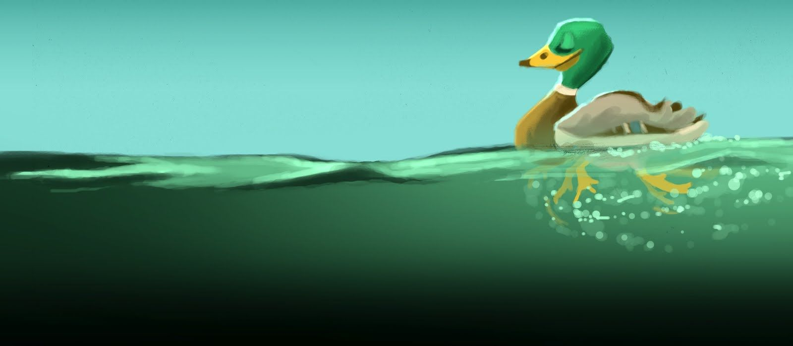 To the water duckling
