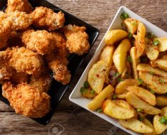 Baked chicken wings with potatoes recipe
