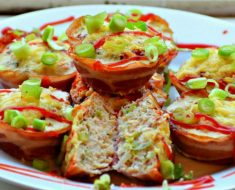 Chicken and bacon baskets recipe