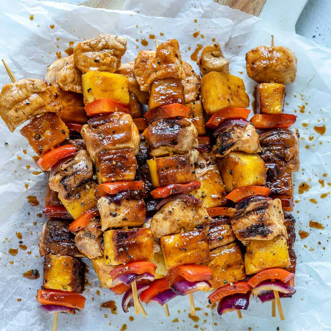 Chicken and pineapple skewers recipe