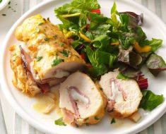 Chicken thigh stuffed with ham and cheese recipe 2022