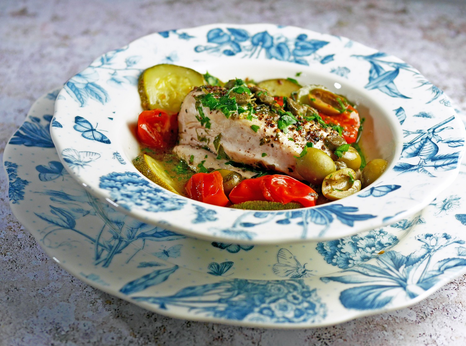 Chicken with papillote recipe