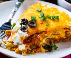 Corn Tortilla Pie with Chicken and Cheese Recipe