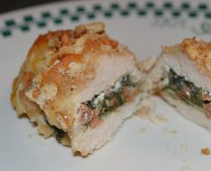 Recipe for breasts stuffed with cream cheese and spinach 2022