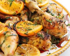 How to make Recipe for chicken thighs stuffed with tangerine sauce