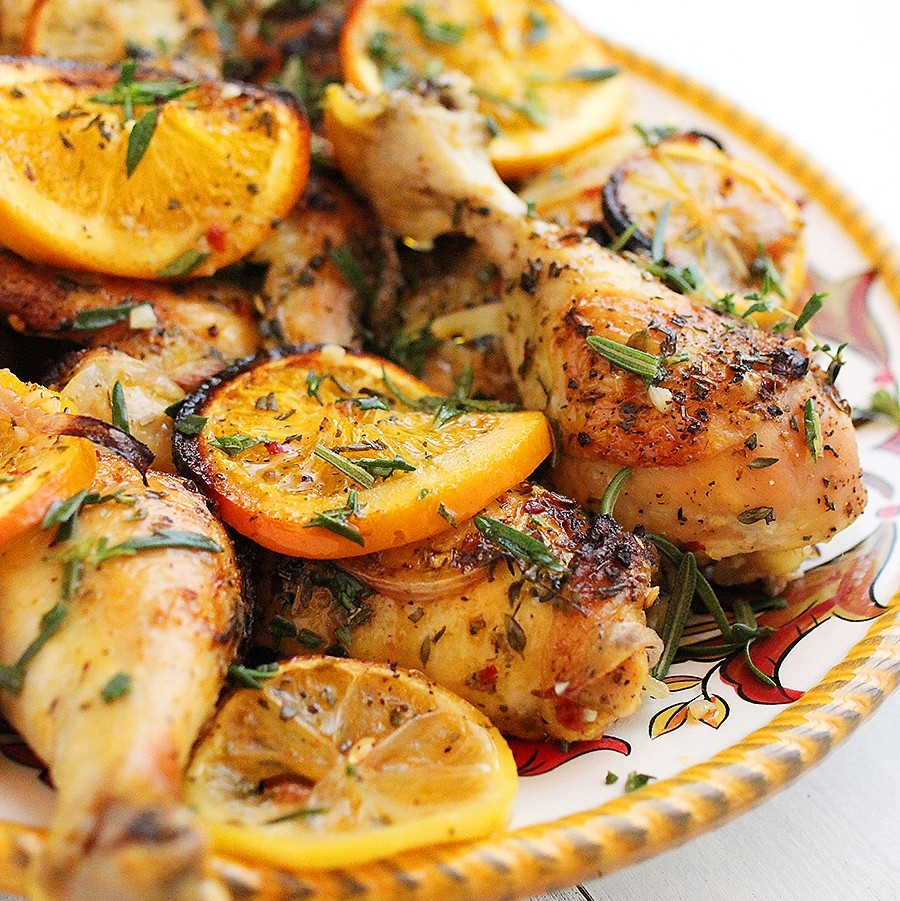 Recipe for chicken thighs stuffed with tangerine sauce 2022