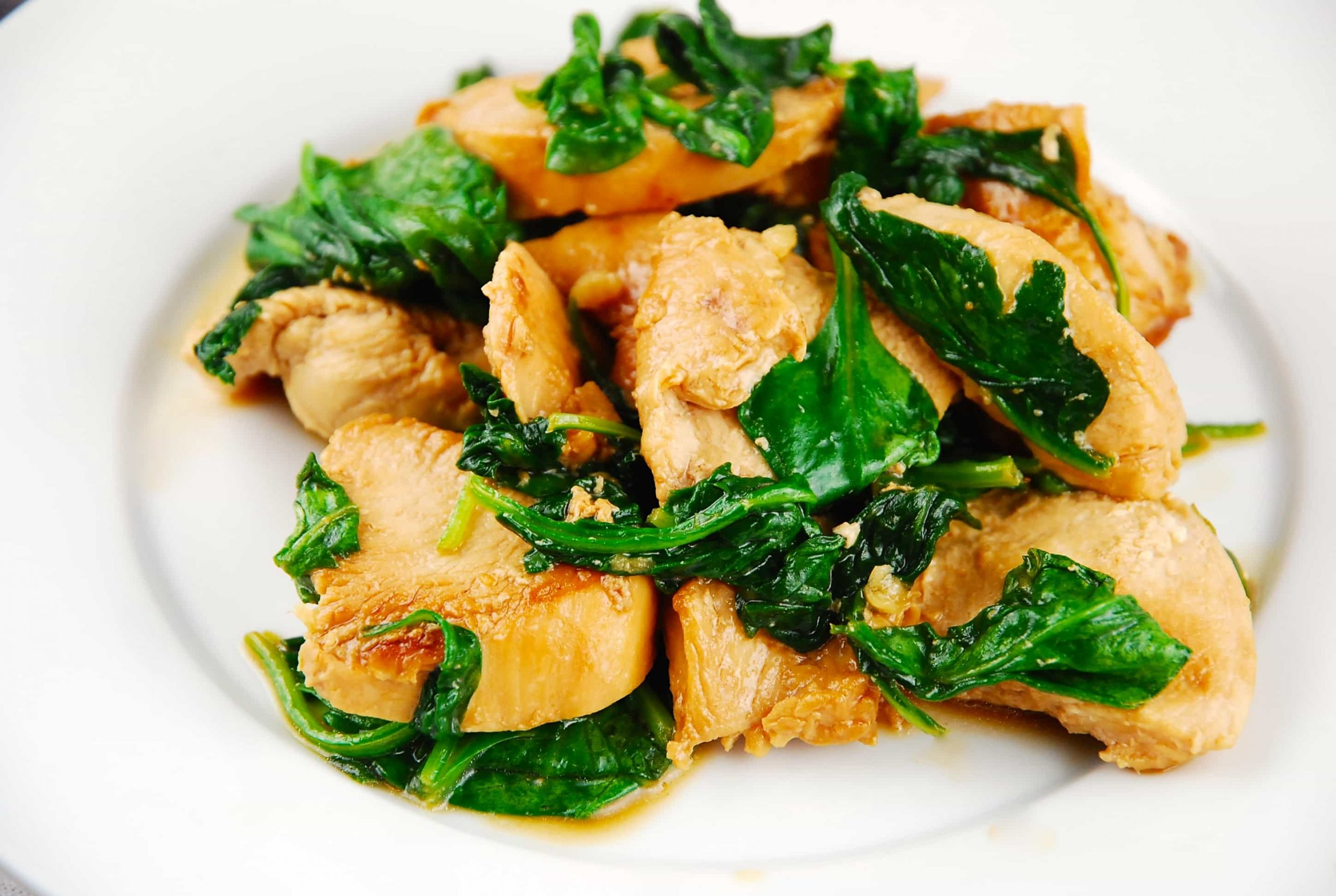 Sauteed Chicken with Spinach Recipe