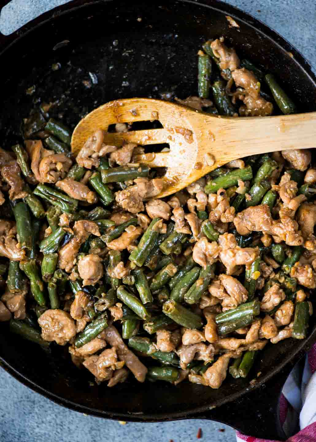 Green beans with chicken recipe