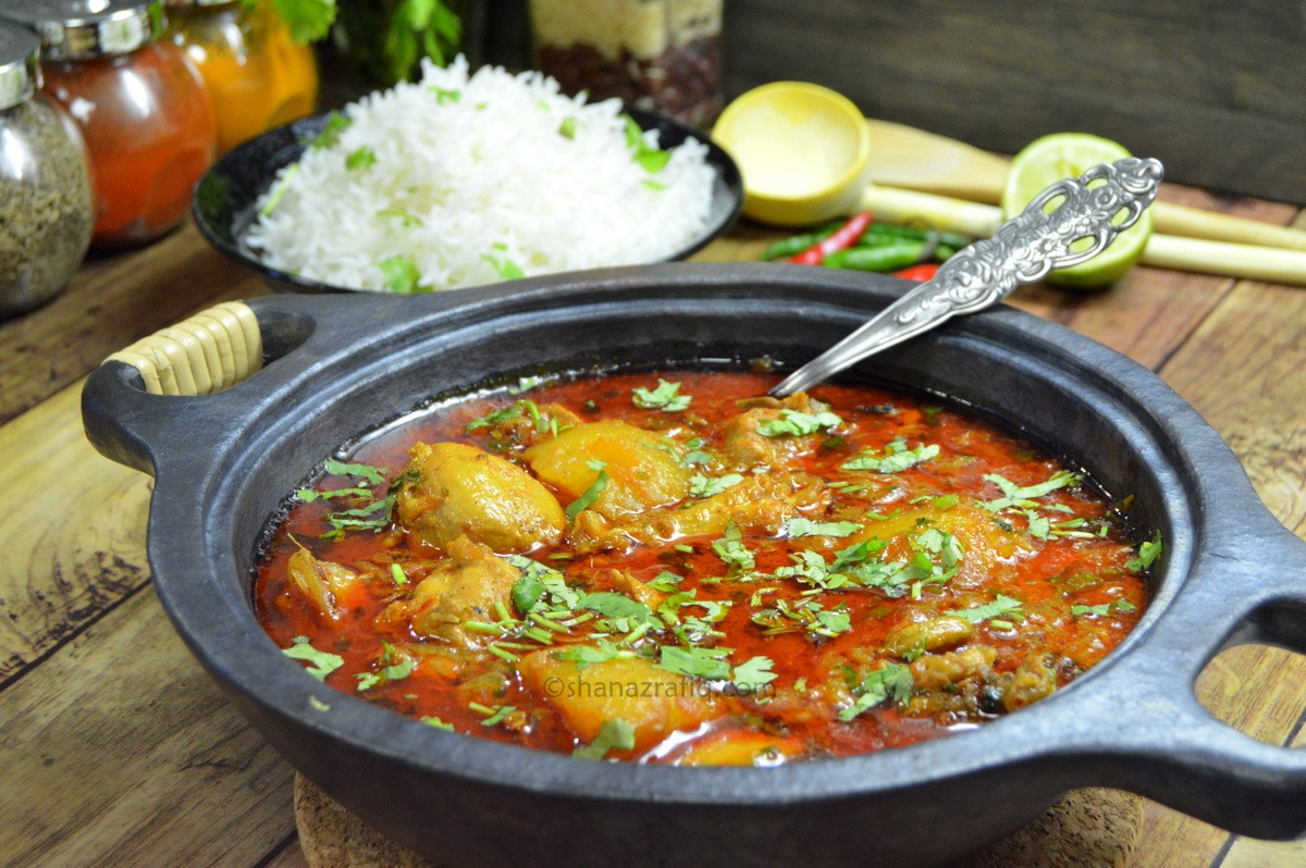 Chicken recipe with light curry