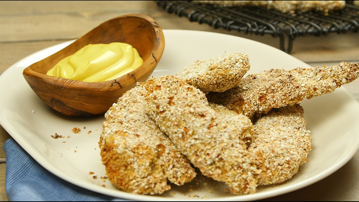 Breaded chicken breast with oatmeal recipe