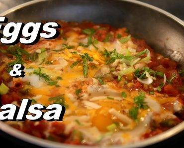 Recipe for Eggs drowned in green sauce