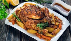 Easy to make Roast Chicken with Apples Recipe